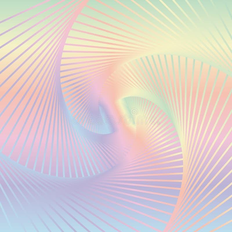 Abstracte kleurrijke spiraalvormige achtergrond Beeld van het verdraaien van lijnen royalty-vrije illustratie