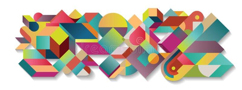 Abstracte kleurrijke tangram illustratie vector illustratie