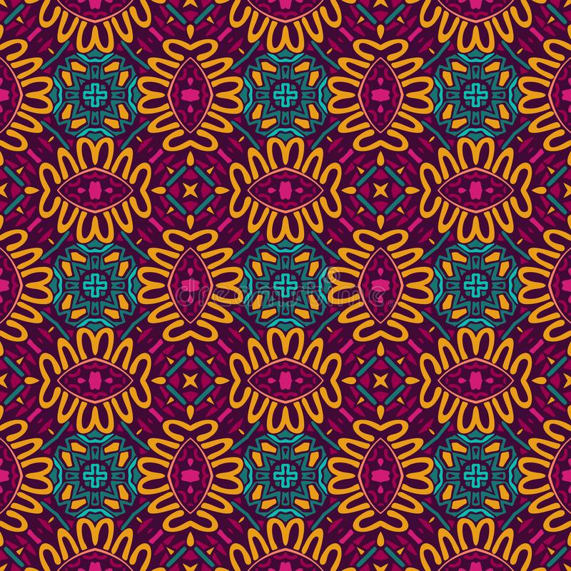 Abstracte kleurrijke tegels etnische sier royalty-vrije illustratie