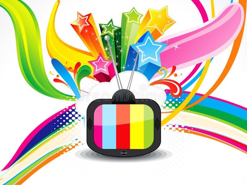 Abstracte kleurrijke telivisionachtergrond vector illustratie