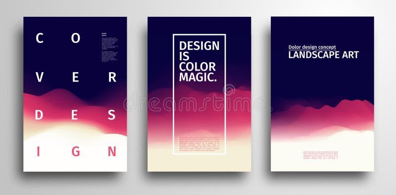 Abstracte Kleurrijke Textuur Abstract vector geometrisch grafisch ontwerp Het ontwerp van de Minimalisticdekking in trillende kle royalty-vrije illustratie