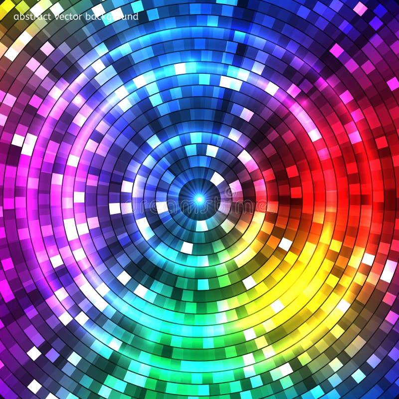Abstracte kleurrijke tunnel Achtergrond Vector stock illustratie