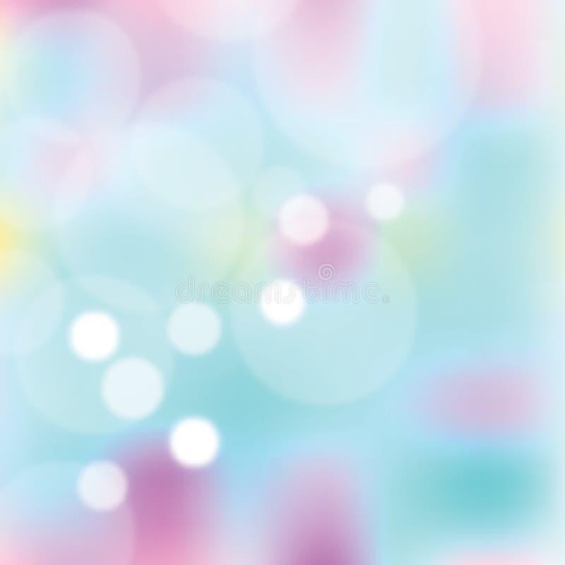 Abstracte kleurrijke vage vectorachtergrond stock illustratie
