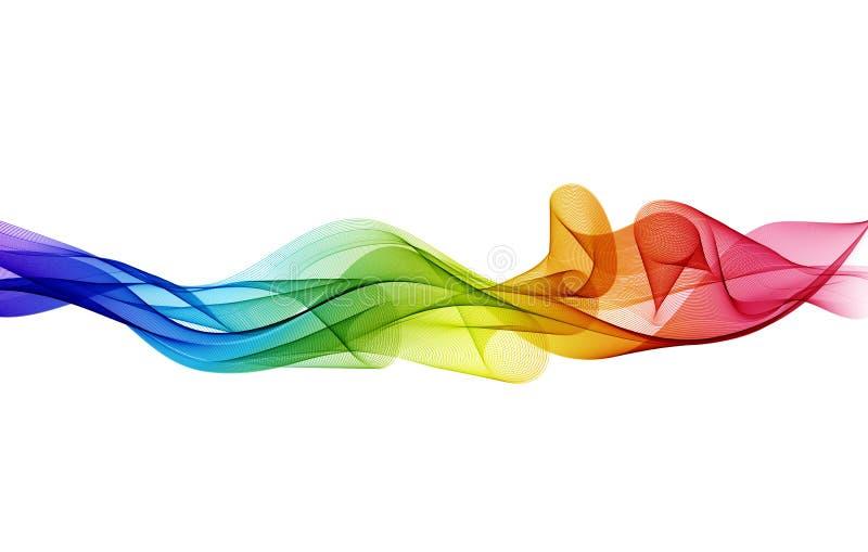 Abstracte kleurrijke vectorachtergrond, de golf van de kleurenstroom voor ontwerpbrochure, website, vlieger stock illustratie