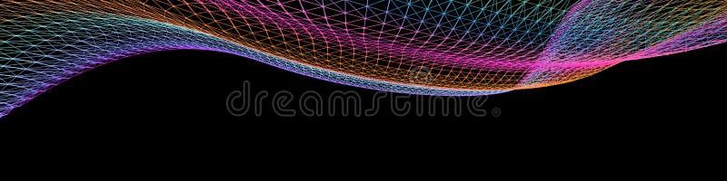 Abstracte kleurrijke vectorgolven Netvorm vector illustratie