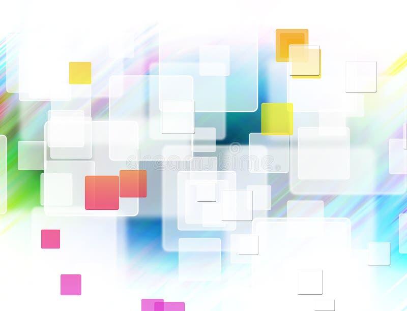 Abstracte kleurrijke vierkante vormachtergrond stock illustratie