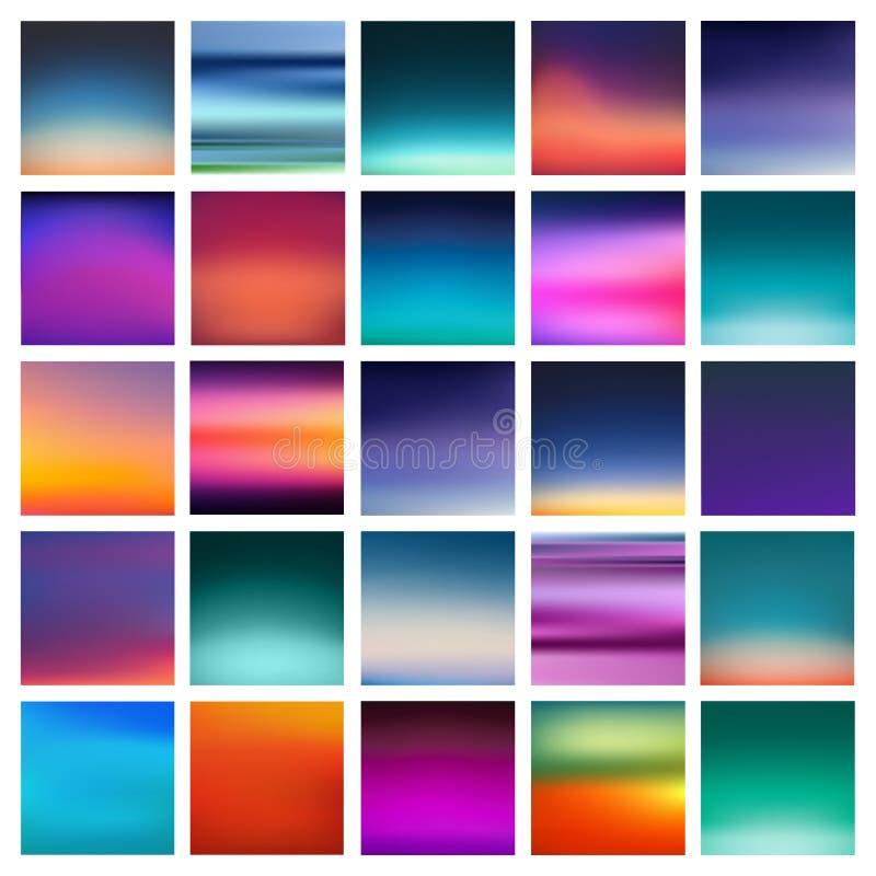 Abstracte kleurrijke vlotte vage vectorachtergronden voor ontwerp Illustratie royalty-vrije illustratie
