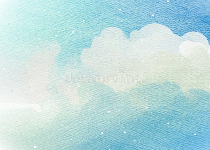 Abstracte kleurrijke waterkleur voor achtergrond royalty-vrije illustratie