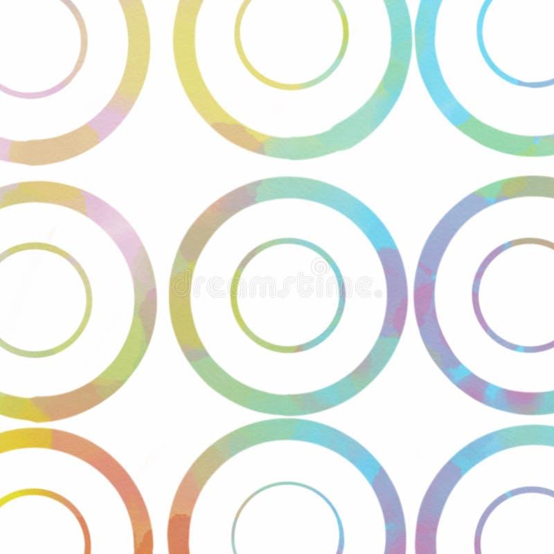 Abstracte kleurrijke waterverf stock afbeeldingen