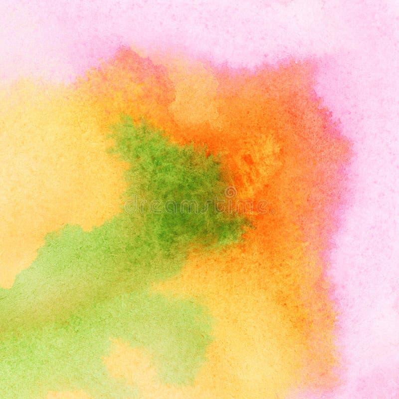 Abstracte kleurrijke waterverfachtergrond. stock illustratie