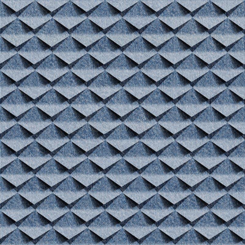 Abstracte knipsels - naadloos patroon - jeansdoek vector illustratie