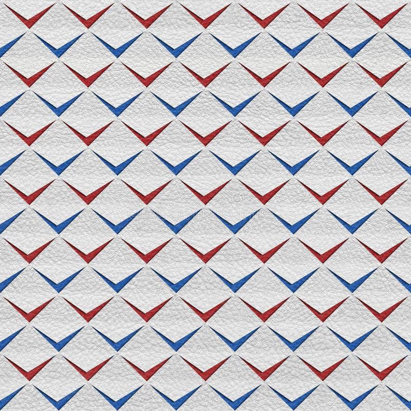 Abstracte knipsels - naadloze achtergrond - de rood-blauwe Kleuren van de V.S. royalty-vrije illustratie
