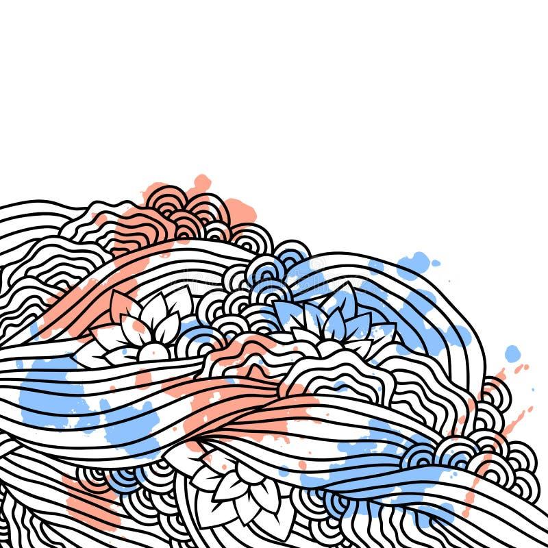 Download Abstracte Krabbelachtergrond. Vectorkaartmalplaatje. Vector Illustratie - Illustratie bestaande uit punt, samenvatting: 39103948