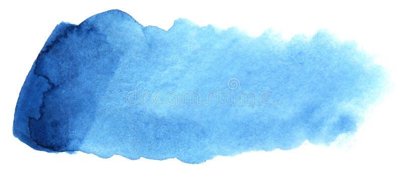 Abstracte krantekopachtergrond Een vormeloze langwerpige vlek van blauwe kleur Gradiënt van dark aan licht royalty-vrije illustratie