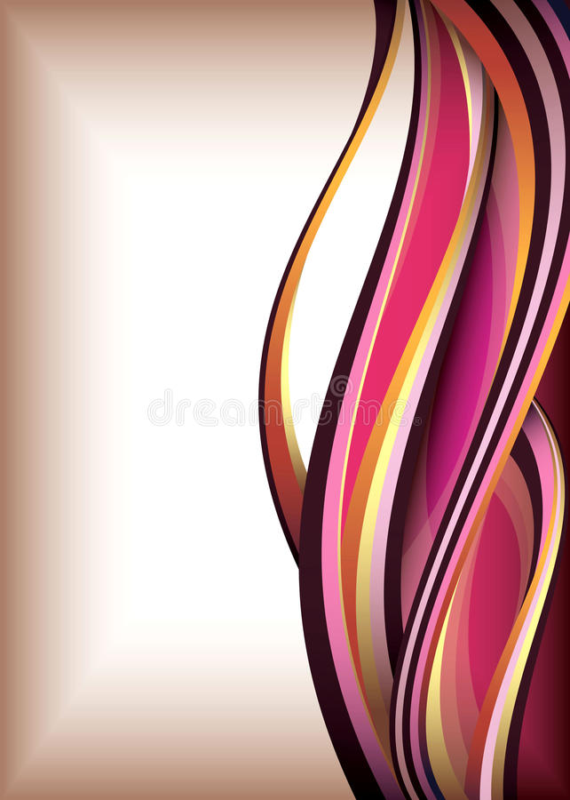 Abstracte krommeachtergrond stock illustratie
