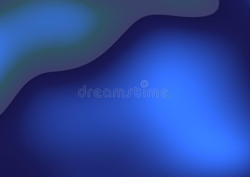 Abstracte krommen - blauwe fantasieachtergrond stock illustratie