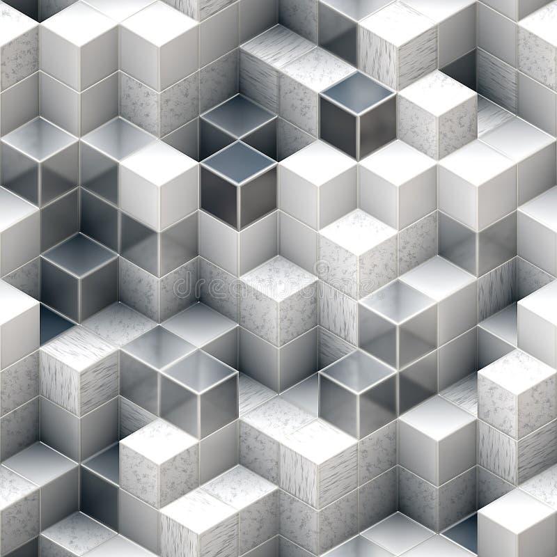 Abstracte kubieke achtergronden vector illustratie