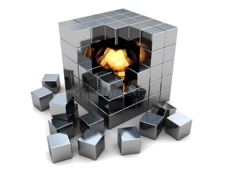 Abstracte kubus stock illustratie