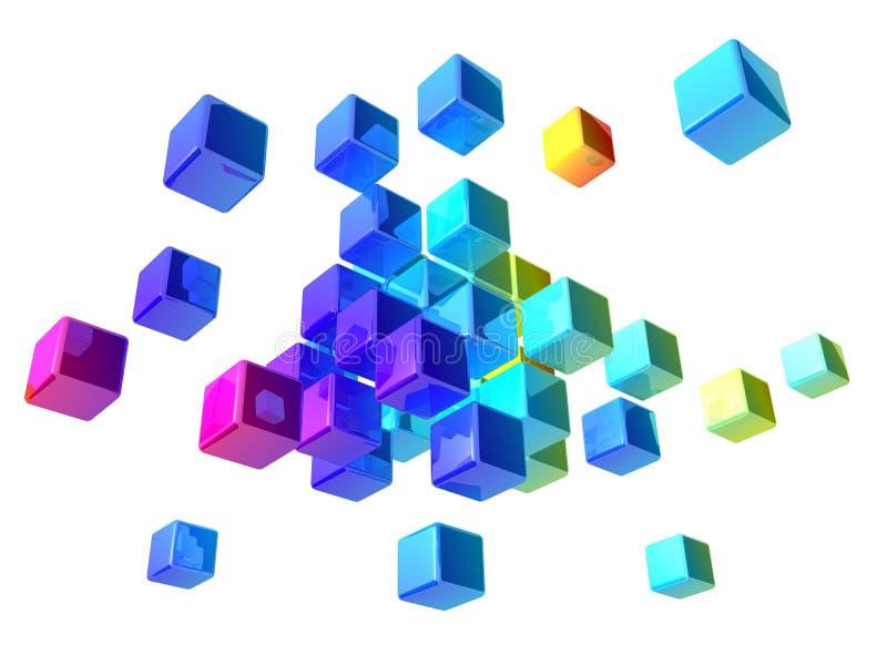 Abstracte kubussen royalty-vrije illustratie
