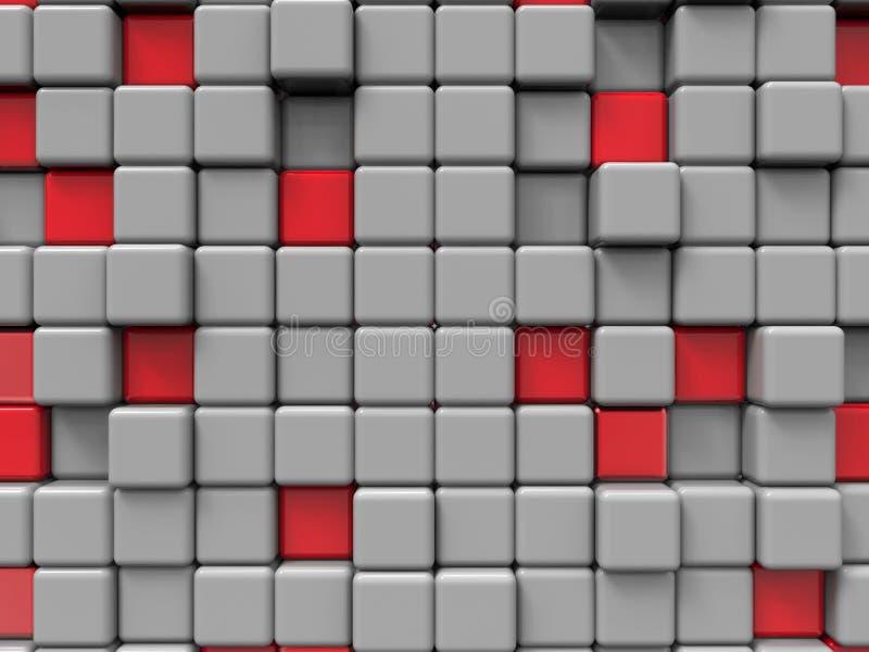 Abstracte kubussenachtergrond vector illustratie