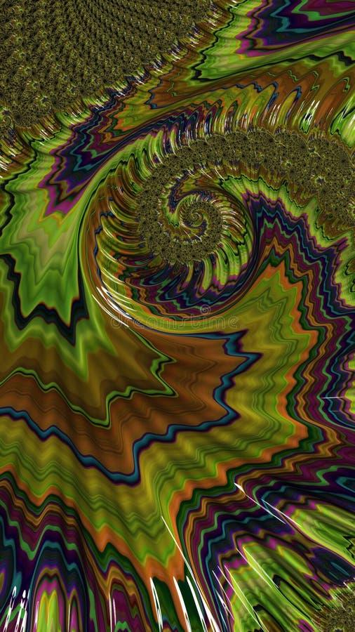 Abstracte kunst geweven wervelingen vector illustratie