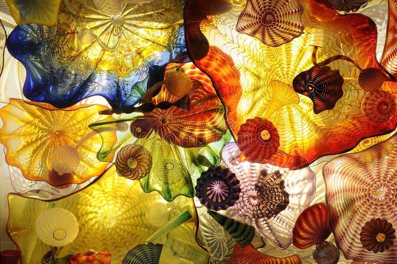 Abstracte kunst van glas stock fotografie