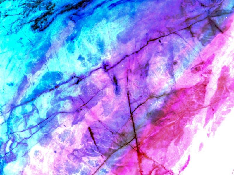 abstracte kunst van marmeren textuur en roze lichtblauwe kleur royalty-vrije stock foto
