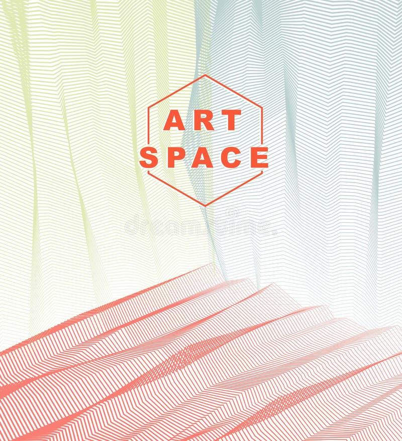 Abstracte kunst vectorachtergrond voor modern in groot ontwerp, l stock illustratie
