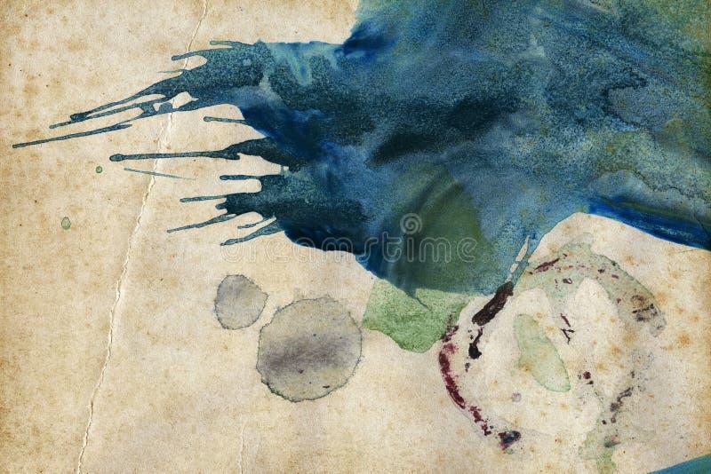 Abstracte kunstachtergrond stock illustratie