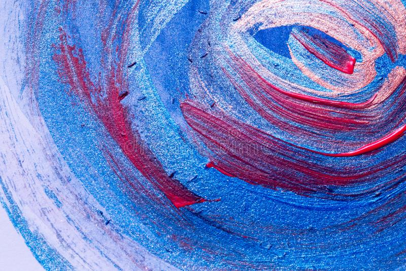 Abstracte kunstachtergronden: Met de hand geschilderd van borstelslagen en spl stock foto