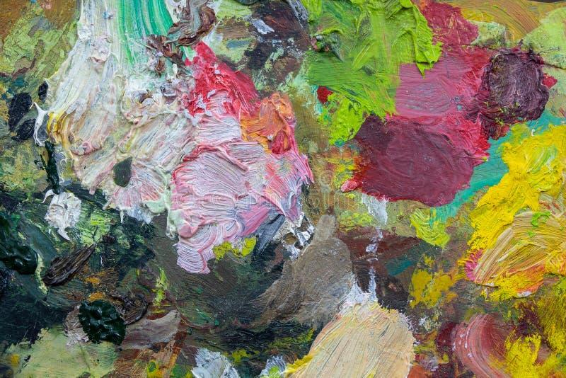 Abstracte kunstachtergronden Met de hand geschilderde achtergrond GEMAAKT ZELF Kunstpalet stock foto