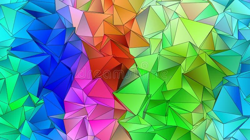 Abstracte laag-Poly driehoekige moderne achtergrond royalty-vrije illustratie