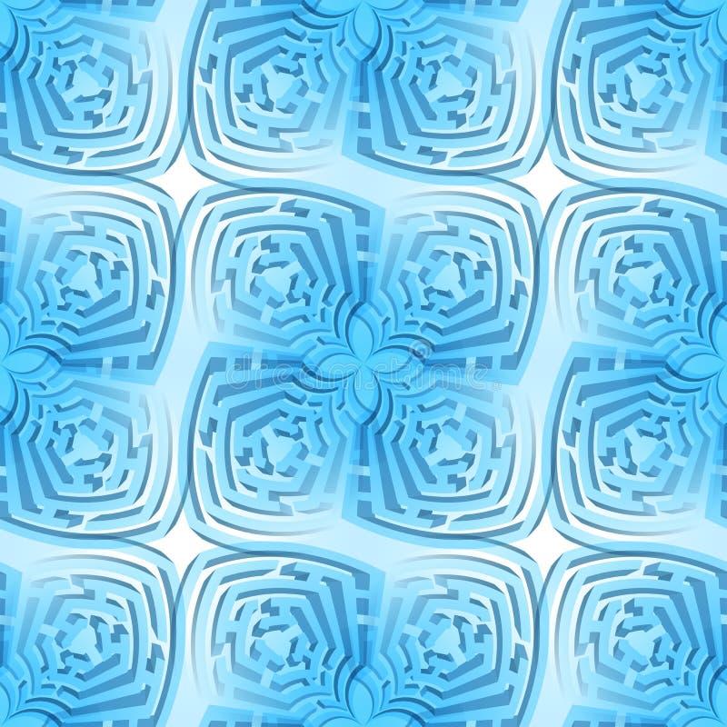 Abstracte labyrintachtergrond royalty-vrije illustratie