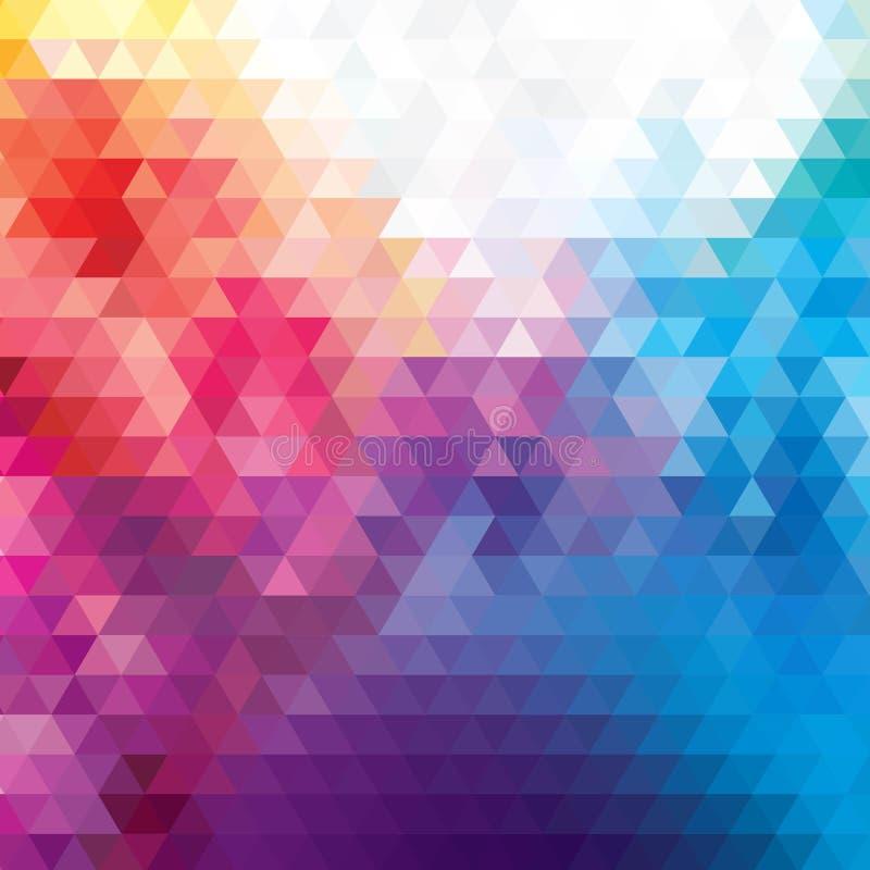 Abstracte Lage Poly Driehoekige Moderne Geometrische Achtergrond Het kleurrijke Veelhoekige Malplaatje van het Moza?ekpatroon Het royalty-vrije illustratie