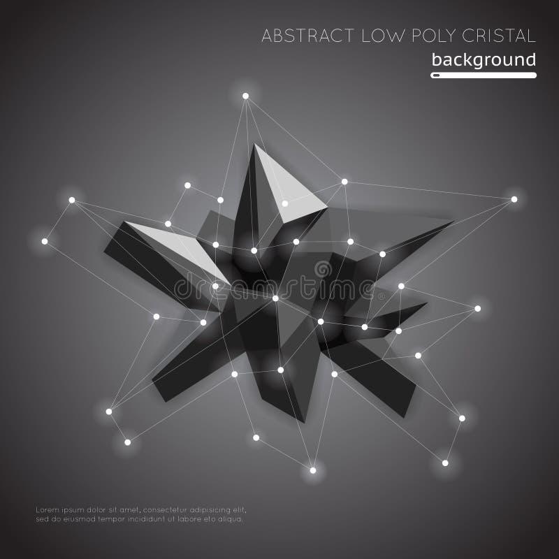 Abstracte lage polykristalachtergrond De lage vectorvorm van de veelhoekmeetkunde vector illustratie