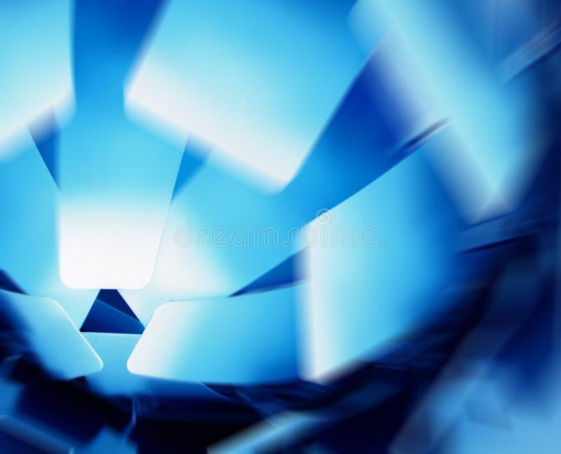 Abstracte lampekap in blauw vector illustratie
