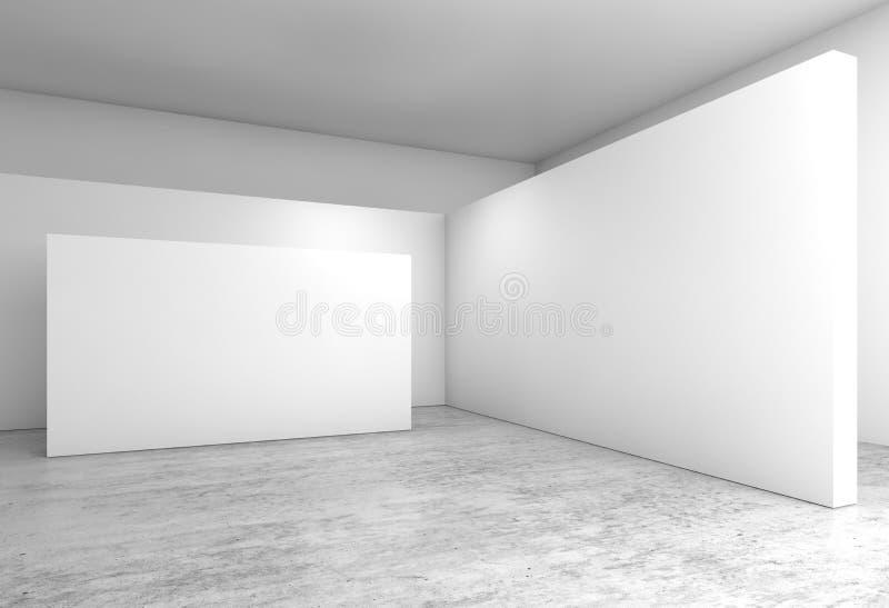 Abstracte lege binnenlandse, witte mureninstallatie 3 D stock illustratie