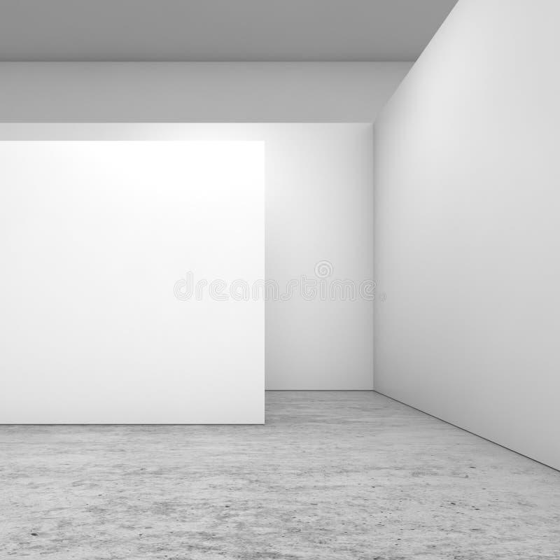 Abstracte lege binnenlandse, witte 3 mureninstallatie van D vector illustratie