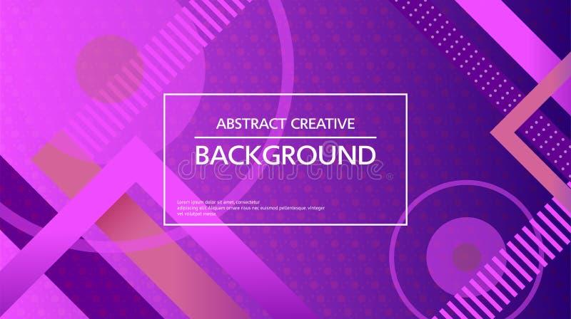 Abstracte levendige achtergrond in geometrische lijnen stock illustratie