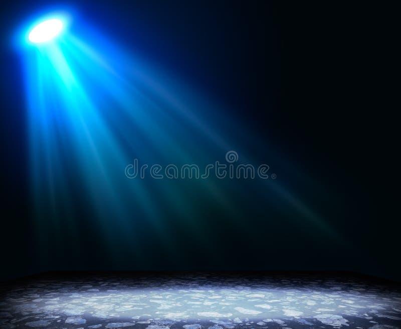 Abstracte lichtblauwe achtergrond met geweven vloer stock illustratie