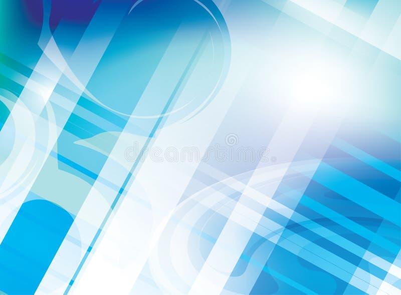 Abstracte lichtblauwe achtergrond met lijnen - vector royalty-vrije illustratie