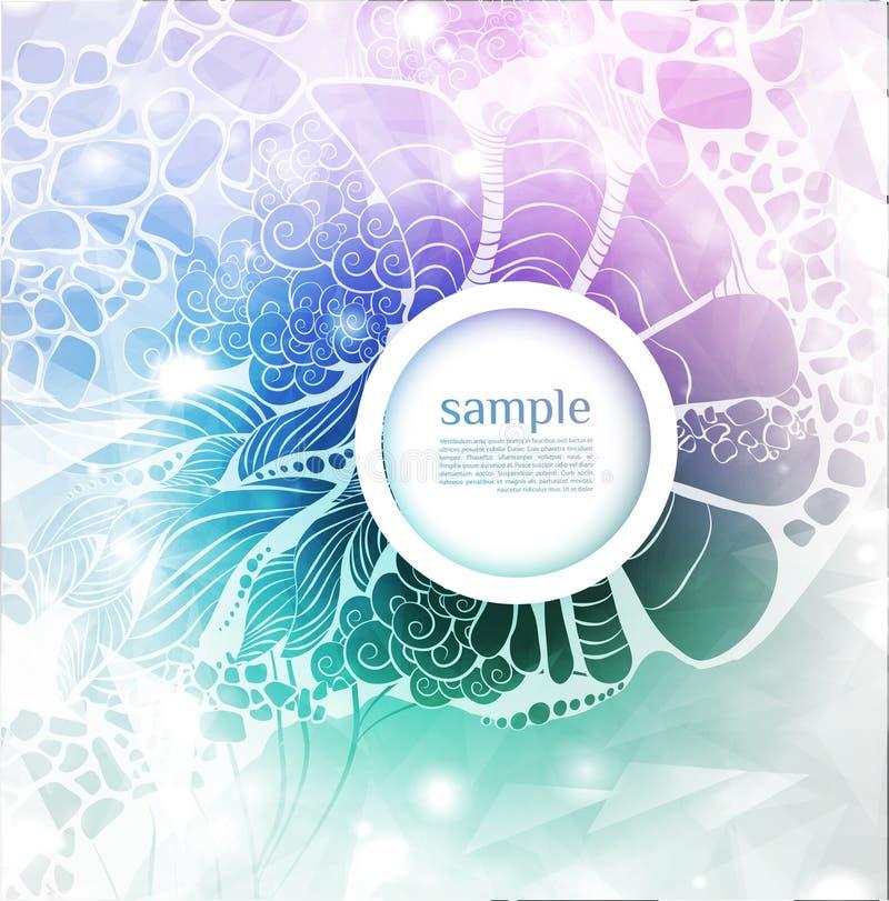 Abstracte lichtblauwe achtergrond. Vectorillustratie vector illustratie