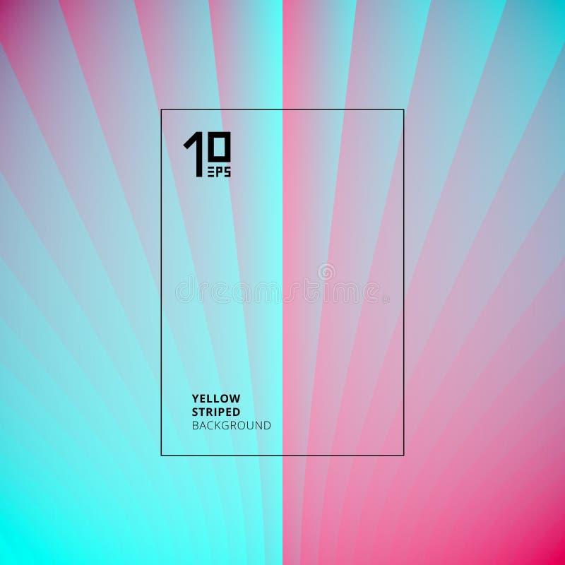 Abstracte lichtblauwe en roze gestreepte het patroonachtergrond van perspectief verticale lijnen U kunt voor malplaatjebrochure g royalty-vrije illustratie
