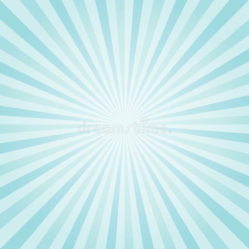 Abstracte lichtblauwe Turkooise stralenachtergrond Vector vector illustratie