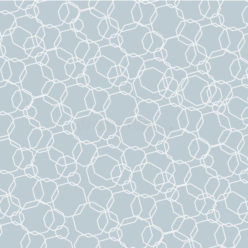 Abstracte lichte achtergrond Futuristisch patroon van veelhoeken op een grijze achtergrond Element voor ontwerp van de malplaatje vector illustratie