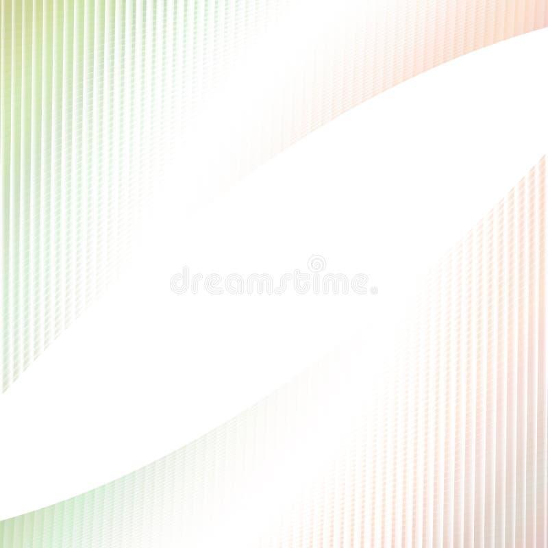Abstracte lichte achtergrond - ontwerp van gebogen hoekig gestreept net vector illustratie
