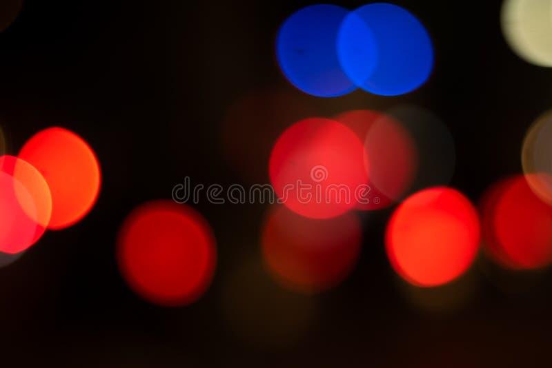 Abstracte Lichte Bokeh-cirkelachtergrond stock foto's