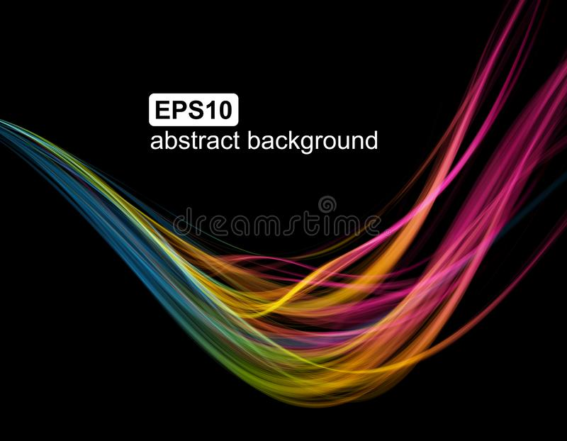 Abstracte lichte golf futuristische achtergrond vector illustratie