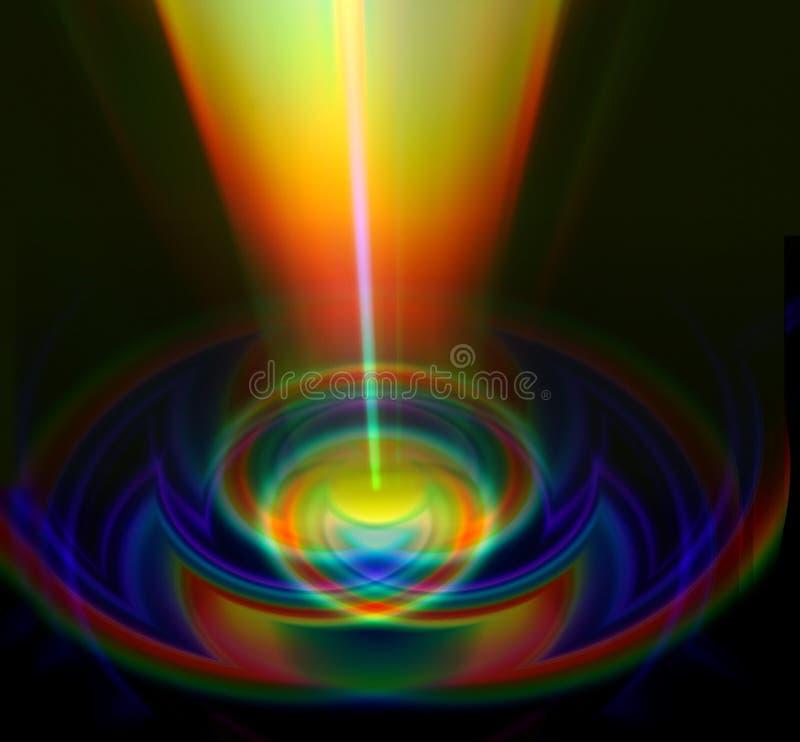 Abstracte lichte slepen royalty-vrije stock afbeelding