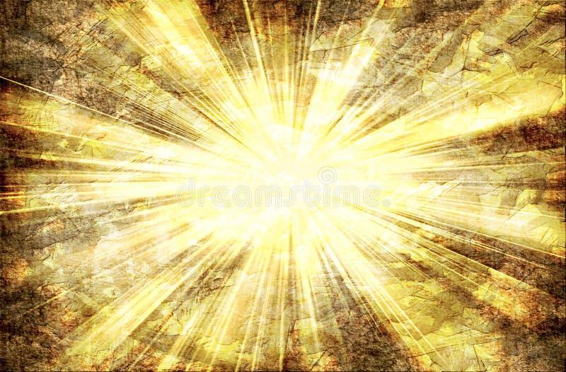 Abstracte Lichte Stralen stock illustratie